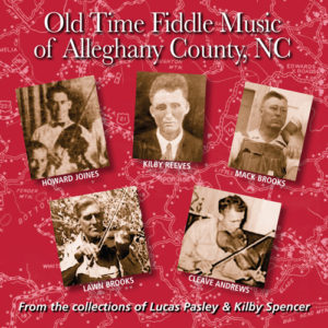 Old Time Fiddle Music of Alleghany County, NC - FRC712