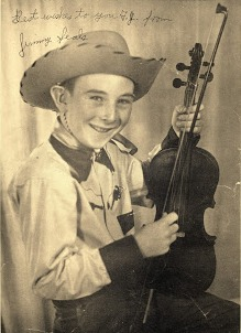 In the late 1940s and early 1950s, Tom and his son Dan Fuller played music regularly with coworker Wayland Seals and Wayland's son Jimmy. Pictured here in an early promo photo, Jimmy became a Texas champion fiddler and later a rock star with Seals and Crofts